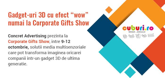 Corporate Gifts Show 2019 – un eveniment al simturilor