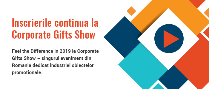 Corporate Gifts Show 2019 – un eveniment al simturilor